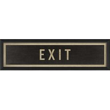 Sign Exit Framed Textual Art