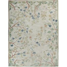 Fresco Savonile Blue Summer Cream Oatmeal Flowers Rug