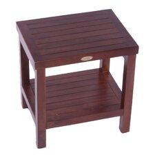 <strong>Decoteak</strong> Classic Teak Outdoor Bench Shelf Serving Caddy or End Table