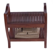 <strong>Decoteak</strong> LiftAide Contemporary Teak Spa Shower Bench