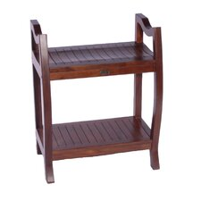 LiftAide Contemporary Teak Spa Bench