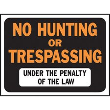No Hunting or Trespassing Sign (Set of 10)