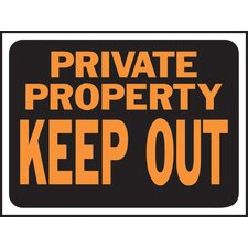 <strong>Hy-Ko</strong> Private Property Keep Out Sign