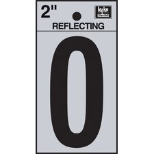 "2"" Self Stick Reflective Number"