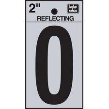 "2"" Self Stick Reflective Number"