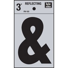 Self Stick Reflective Ampersand Symbol