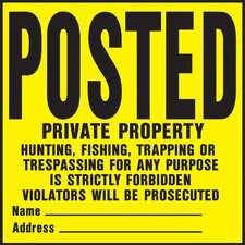 Private Property Sign (Set of 20)
