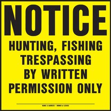 No Hunting Sign (Set of 20)