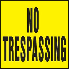 No Trespassing Sign (Set of 20)