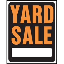 "15"" x 19"" Plastic Yard Sale Sign"