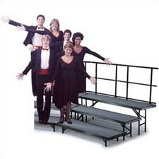 <strong>Midwest Folding Products</strong> Three-Level Standing Choral Riser with Hardboard Deck