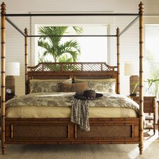 <strong>Tommy Bahama Home</strong> Island Estate West Indies Four Poster Bed