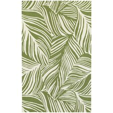 Atrium Tropical Leaf Green/Ivory Indoor/Outdoor Area Rug