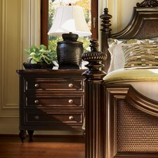 Royal Kahala Orchid 3 Drawer Nightstand