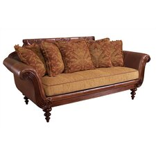 <strong>Tommy Bahama Home</strong> Plantation Scatterback Leather Sofa