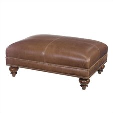 Tommy Bahama Home Bahia Tight Top Leather Ottoman
