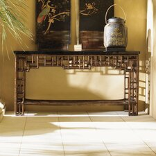 <strong>Tommy Bahama Home</strong> Royal Kahala Mystic Leather Console Table
