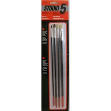 Studio 5 Artist and Hobby Brushes (Set of 4)