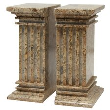 Fossil Stone Renaissance Book Ends (Set of 2)