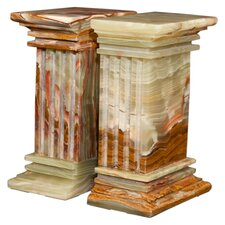 Whirl Green Onyx Renaissance Book End (Set of 2)