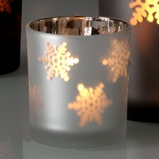 Illuminaria Glass Snowflake Votive Holders