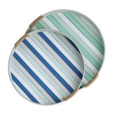 Summerville 2 Piece Round Tray Set