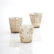 Castello 3 Piece Mercury Glass Votive Set