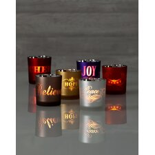 Illuminaria Glass Inspired Votive Holders (Set of 6)