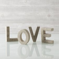 """Love"" Block Print Display Letters"