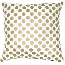 Poly Taffeta with Leather Applique Circles Pillow