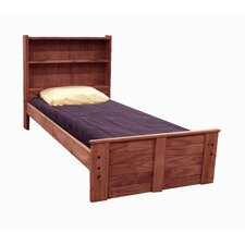 Twin Panel Bed with Bookcase Headboard