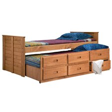 <strong>Chelsea Home</strong> Twin Captain Bed with Trundle Unit
