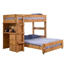 <strong>Chelsea Home</strong> Twin Over Full L-Shaped Bunk Bed with Desk End