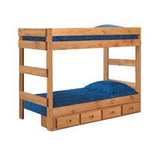 Twin Over Twin Standard Bunk Bed with Storage
