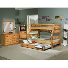 Twin Over Full Standard Bunk Bed with Trundle