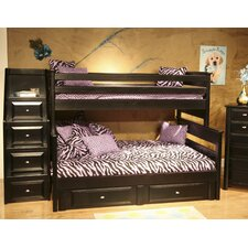 <strong>Chelsea Home</strong> Twin Over Full Standard Bunk Bed with Stairway Chest and Storage