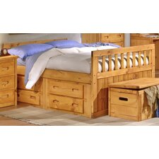 <strong>Chelsea Home</strong> Full Slat Bed with Storage