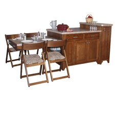 Bobby Kitchen Island with Granite Top