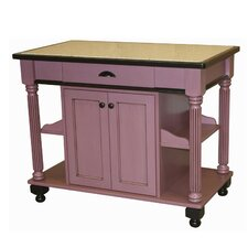 Nigella Kitchen Island with Granite Top