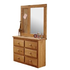 Mini 6 Drawer Dresser with Mirror