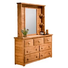 <strong>Chelsea Home</strong> 7 Drawer Dresser with Mirror Hutch