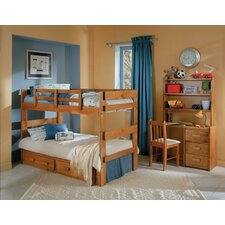 <strong>Chelsea Home</strong> Twin over Twin Standard Bunk Bed with Underbed Storage