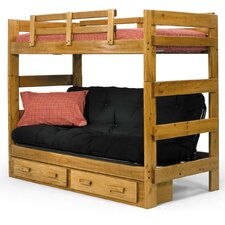Twin over Futon Standard Bunk Bed with Underbed Storage
