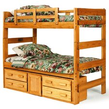 <strong>Chelsea Home</strong> Extra Tall Twin over Twin Standard Bunk Bed with Underbed Storage
