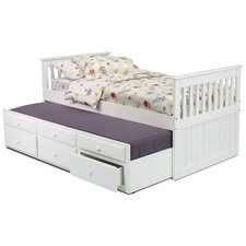 <strong>Chelsea Home</strong> Twin Slat Bed with Trundle and Storage