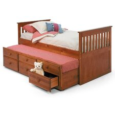 Twin Slat Bed with Trundle