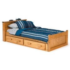 Twin Captain Bed with Bookcase and Underbed Storage