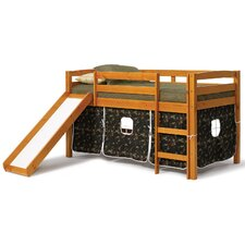 <strong>Chelsea Home</strong> Twin Low Loft Bed with Slide