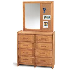 8 Drawer Dresser with Mirror