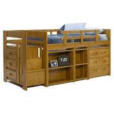 <strong>Chelsea Home</strong> Twin Low Loft Bed with Storage